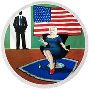 Jack And Marilyn Round Beach Towel