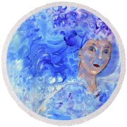 Jack Frost's Girl Round Beach Towel