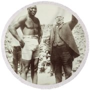 Jack Johnson - Heavyweight Boxing Champion  1908 - 1915 Round Beach Towel
