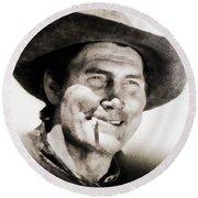 Jack Palance, Vintage Actor Round Beach Towel