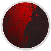 Jack The Ripper In Red Light Round Beach Towel