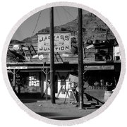 Jackass Junction Round Beach Towel