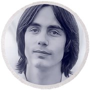 Jackson Browne, Music Legend Round Beach Towel