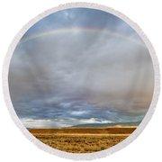 Jackson Hole Rainbow Round Beach Towel