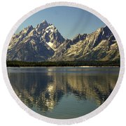 Jackson Lake 2 Round Beach Towel