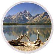 Jackson Lake 3 Round Beach Towel