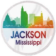 Jackson Ms Round Beach Towel by Angelina Vick