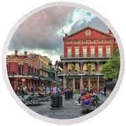 Jackson Square Evening Round Beach Towel