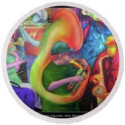 Jackson Square New Orleans Round Beach Towel