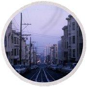 Jackson Street San Francisco Round Beach Towel