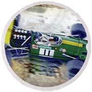 Jacky Ickx - Brabham Bt26 Round Beach Towel