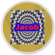 Jacob Round Beach Towel