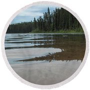 Jade Lake Round Beach Towel