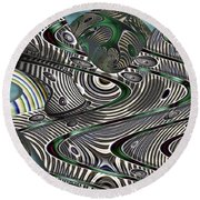 Jade Worlds Round Beach Towel