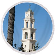 Jaffa, St Peter Church And Monastery Round Beach Towel