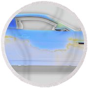 Jag Xke Cloudy Weather Round Beach Towel