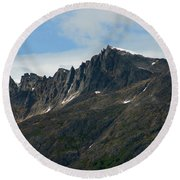Jagged Mountain Round Beach Towel