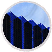 Jagged Sky Scraper Round Beach Towel