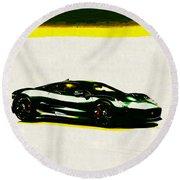 Jaguar C-x75 Round Beach Towel