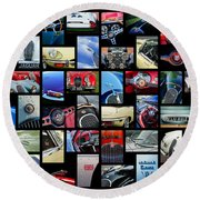 Jaguar Car Art -01 Round Beach Towel