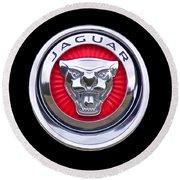 Jaguar Emblem Round Beach Towel