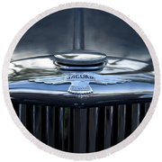 Jaguar Hood Ornament Round Beach Towel
