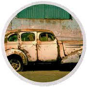 Jalopy Round Beach Towel