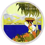 Jamaica, The Gem Of Tropics Round Beach Towel