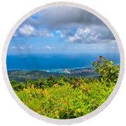 Jamaican Vista Round Beach Towel