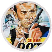 James Bond Dr.no 1962 Round Beach Towel