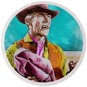 James Coburn Round Beach Towel