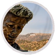 James Dean - Griffith Observatory Round Beach Towel