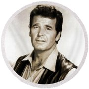 James Garner By Mb Round Beach Towel