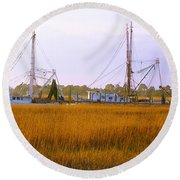 James Island Round Beach Towel