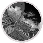 James Joyce Bridge 2 Bw Round Beach Towel