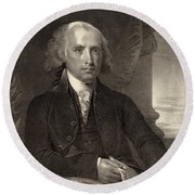 James Madison - Fourth President Of The United States Of America Round Beach Towel by International  Images