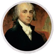 James Madison Round Beach Towel by American School