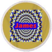 James Round Beach Towel