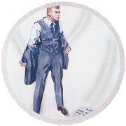 James Montgomery Flagg, 1918 Round Beach Towel