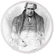 James Watt, Scottish Inventor Round Beach Towel