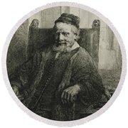 Jan Lutma, The Elder, Goldsmith And Sculptor Round Beach Towel