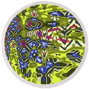 Janca Abstract # 6731eac1 Round Beach Towel