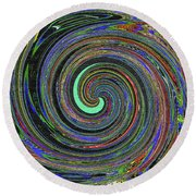 Janca Abstract Panel #5473w4 Round Beach Towel