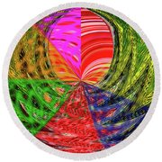 Janca Colors Panel Abstract # 5212 Wtw7 Round Beach Towel