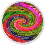 Janca Colors Panel Abstract # 5212 Wtw7abc Round Beach Towel