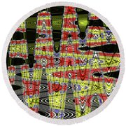 Jancart #0010-8 Abstract Round Beach Towel