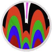 Jancart Drawing Abstract #8455pc Round Beach Towel
