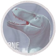 Jane Is A Fossil Specimen Of Small Round Beach Towel
