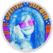 Janis Stamp Painting Round Beach Towel