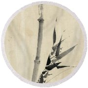 Japan: Bamboo, C1830-1850 Round Beach Towel